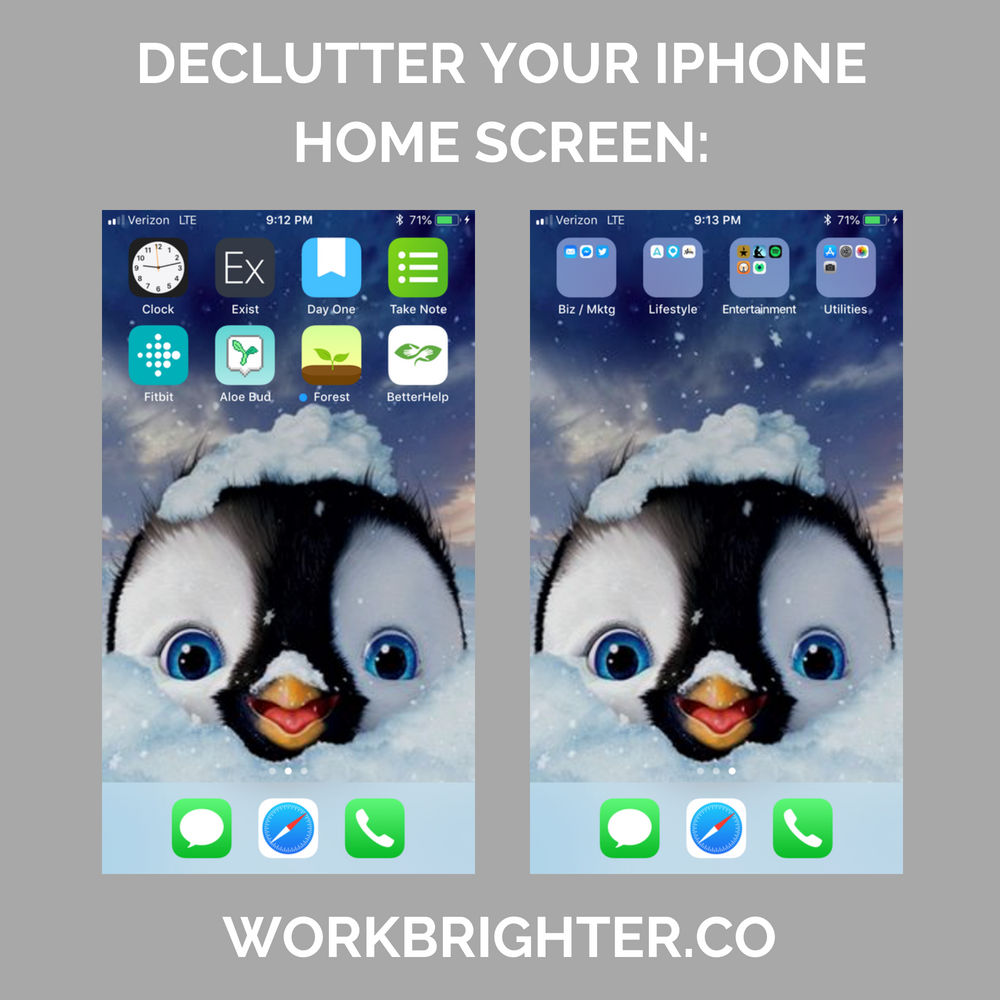 Declutter your iPhone home screen