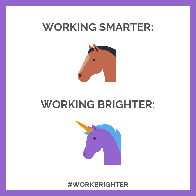 Working Smarter vs Working Brighter