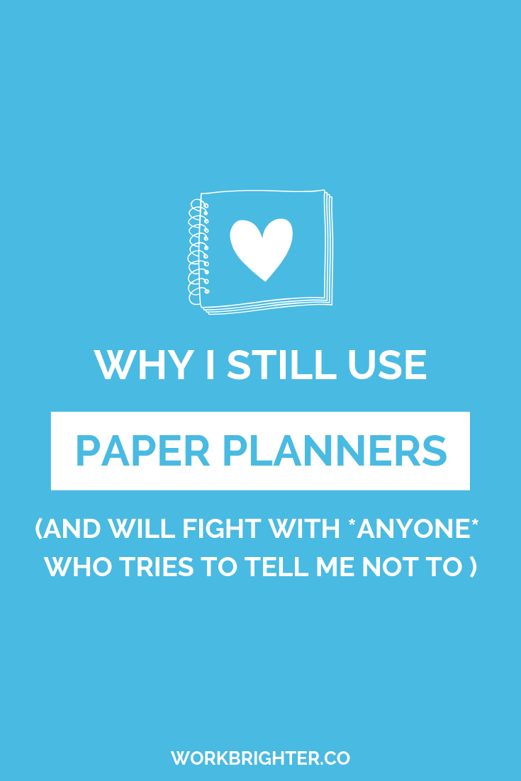 Why I still use paper planners, and will fight anyone who tells me not to