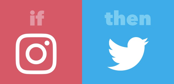 IFTTT Instagram to Twitter Applet