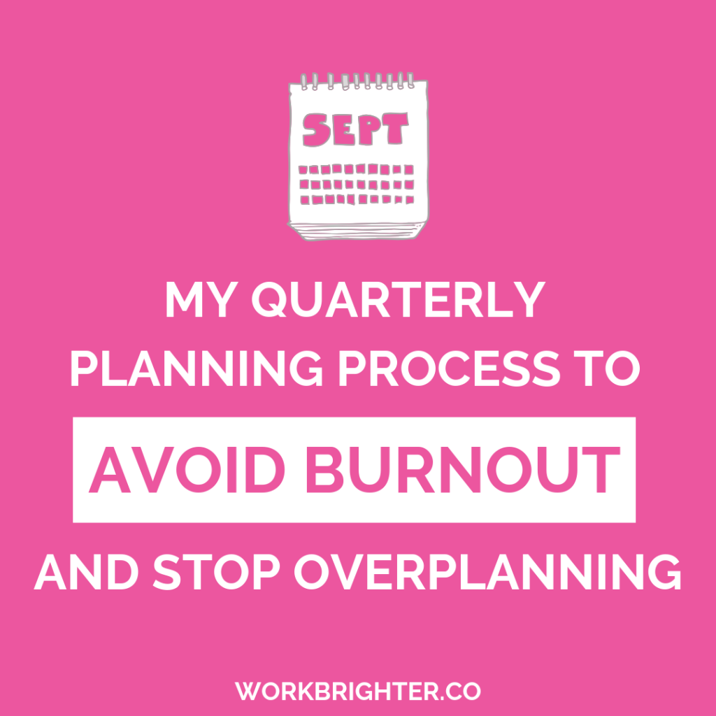 my quarterly planning process