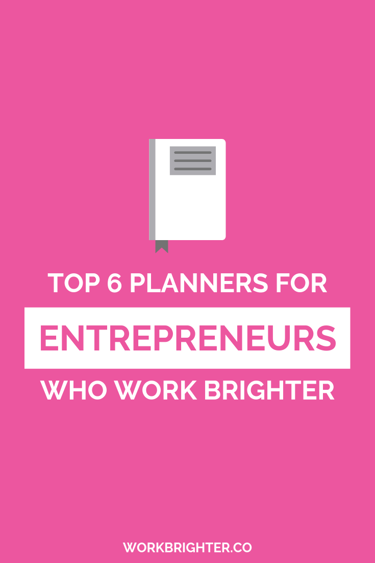 When it comes to planners, I\'ve tried them all in my journey to become Leslie Knope. Here are my recs for the best planners for entrepreneurs!