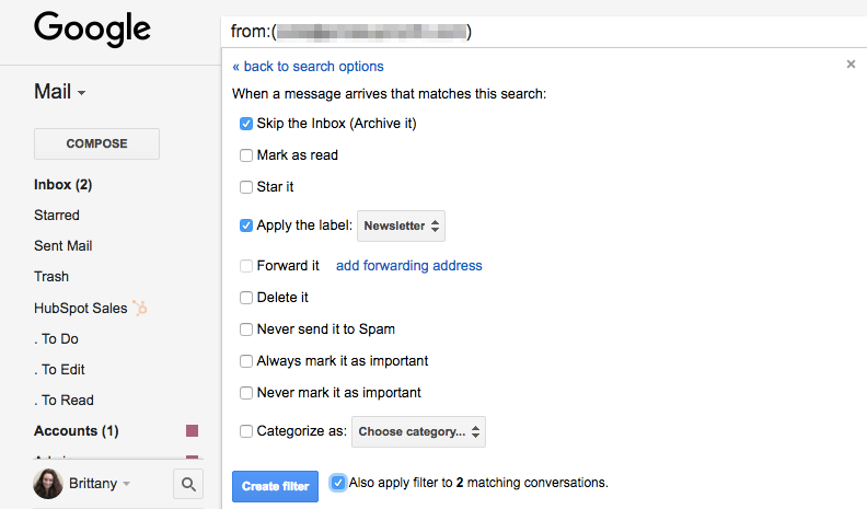Automate your inbox with Gmail rules