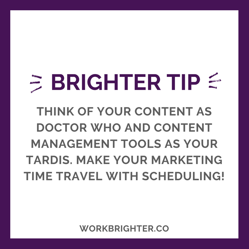 BRIGHTER TIME MANAGEMENT TIP_ Doctor Who Social Media Scheduling