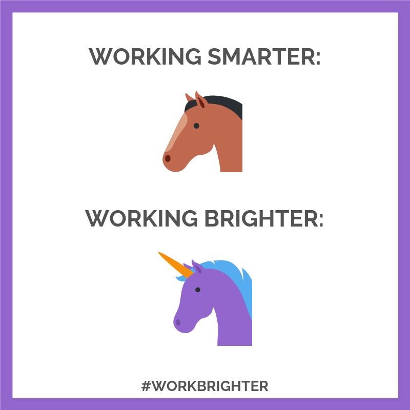 Working Smarter vs Working Brighter