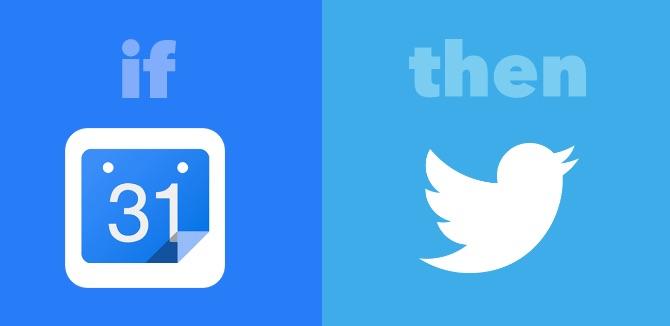 Google Calendar and Twitter IFTTT Applet