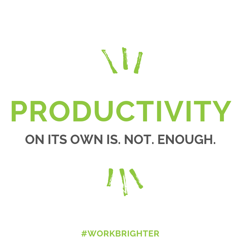 productivity on its own is not enough