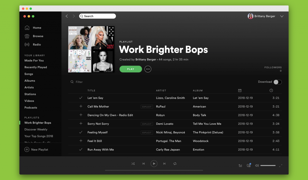 work brighter spotify playlist