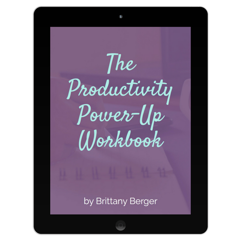 the productivity power-up workbook