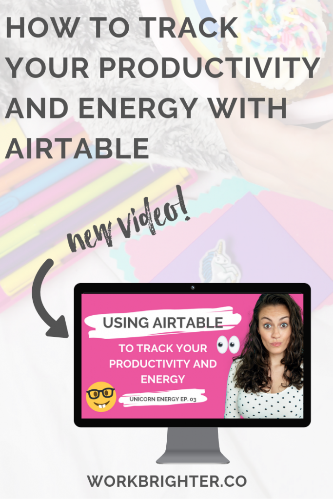 How to track your productivity and energy with airtable