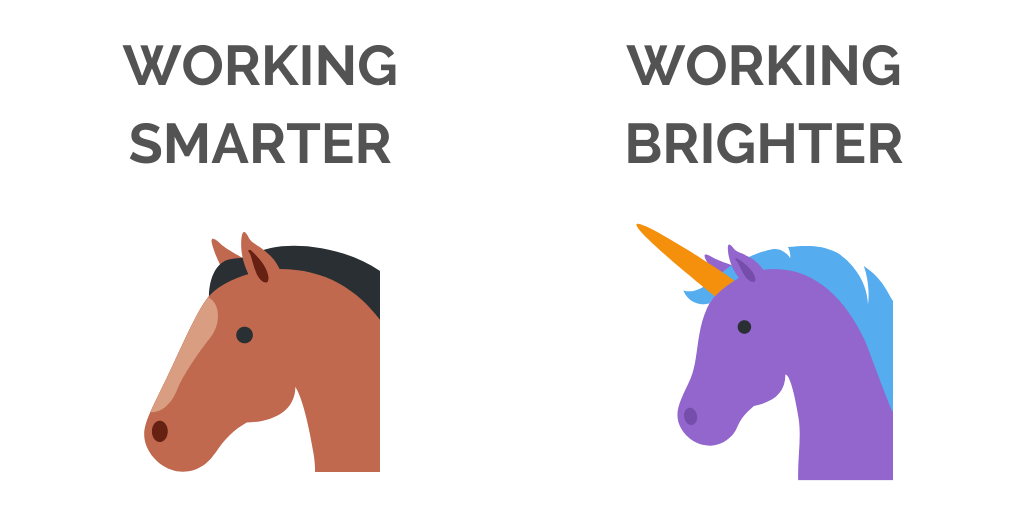 Working Smarter vs Brighter for remote work habits