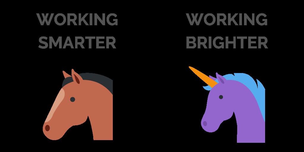 Working Smarter vs Brighter