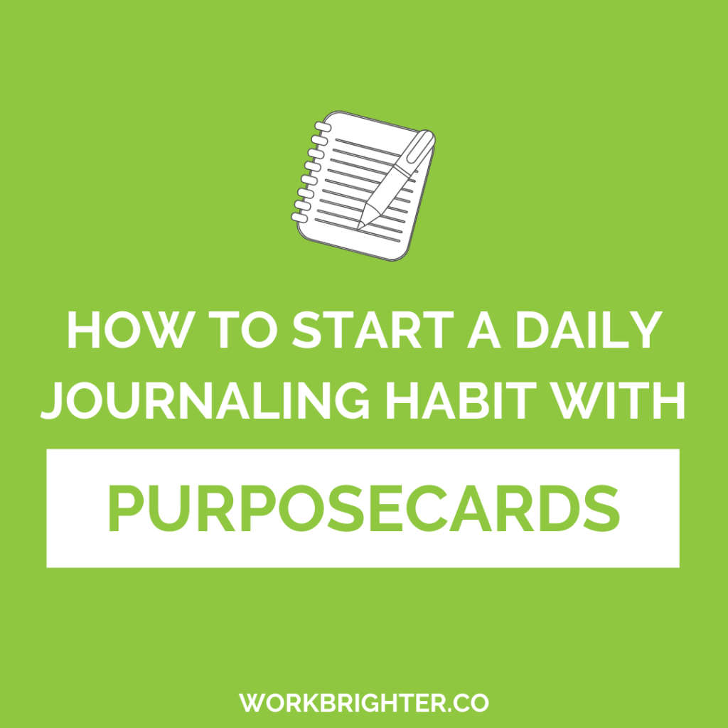 how to start a journaling habit with purposecards
