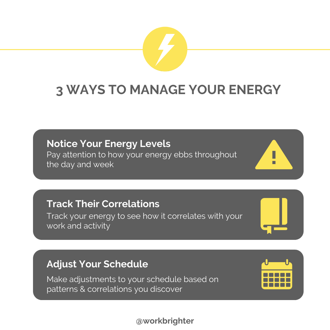 3 ways to manage your energy